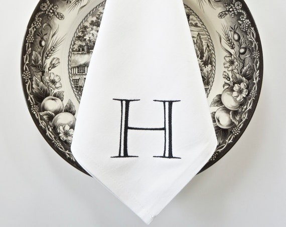 BOOKPLATE Monogram Embroidered Linens