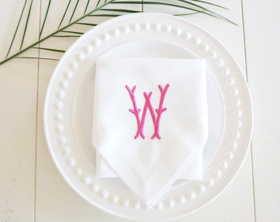 BAMBOO Monogram Embroidered Linens