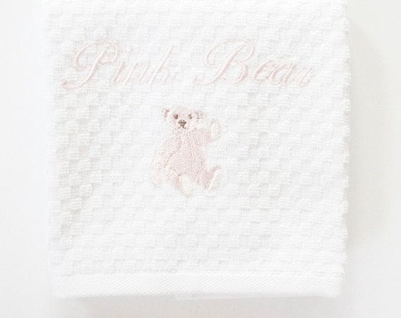 PINK BEAR Bath Towels