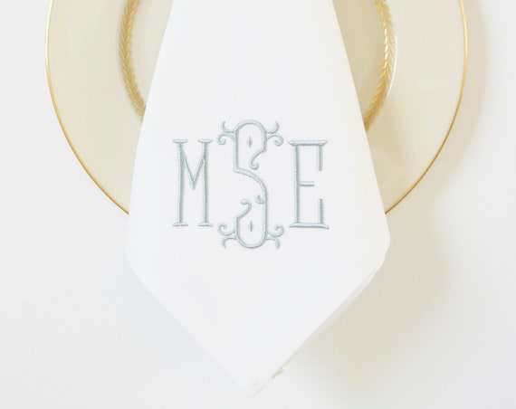 CHIC Monogram Embroidered Linens