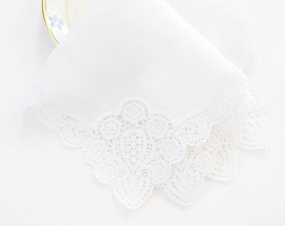 LADIES MONOGRAM Chart III fonts Embroidered Monogrammed Handkerchief, Wedding, Bridal,