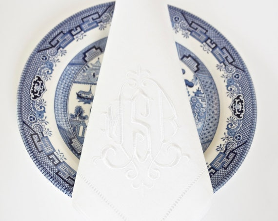 ELEGANT Monogram Embroidered Linens