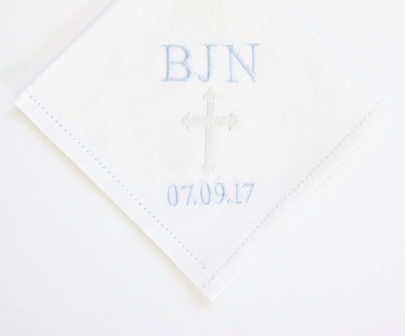 CUSTOM Monogram design and font Embroidered Monogrammed Ladies Handkerchief, Personalized Custom Handkerchief