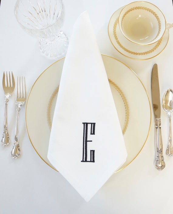 ENGRAVED Monogram Embroidered Linens