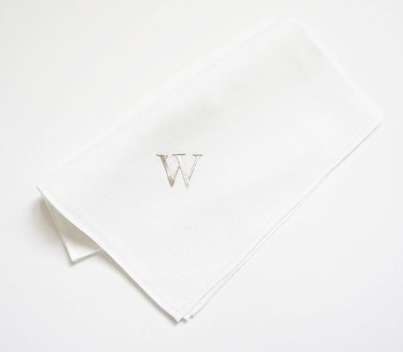 MENS MONOGRAM Chart III fonts for Monograms and Text on Handkerchiefs