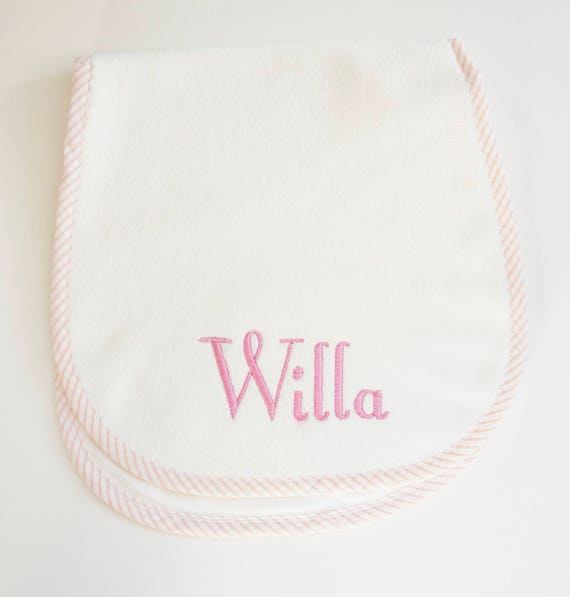 Child Monogrammed Burp Cloth
