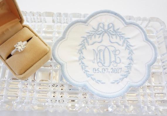 Custom Monogram Embroidered Wedding Dress Patch