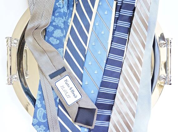 Men's Custom Monogram Embroidered Tie Patch