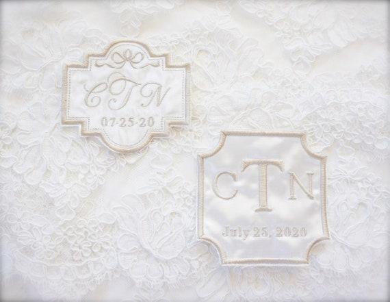 Custom Embroidered Wedding Dress Patch, Future Wedding, Bridal dress patch