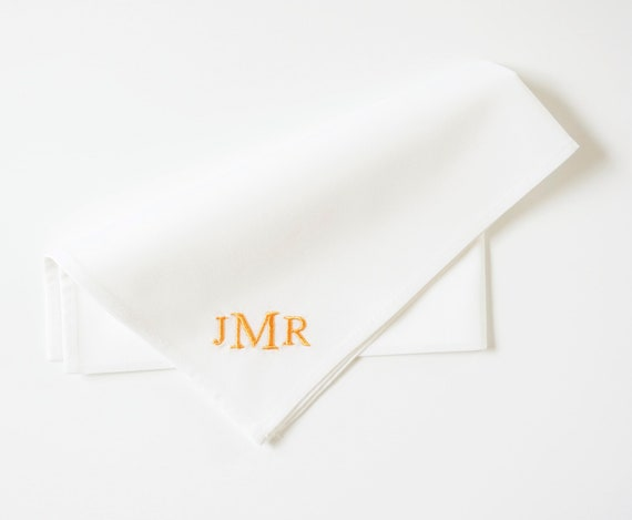 MENS POCKET SQUARE, Multiple Font Styles, Wedding, Groomsmen, Gift for Men, Groom, Husband, Father
