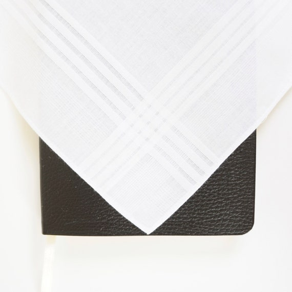 MENS CLASSIC COTTON Embroidered Monogrammed Handkerchief