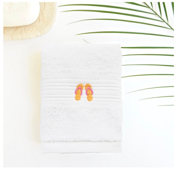 Monogrammed Facial & Spa Cloths - Embroidered in Various Designs and Monograms
