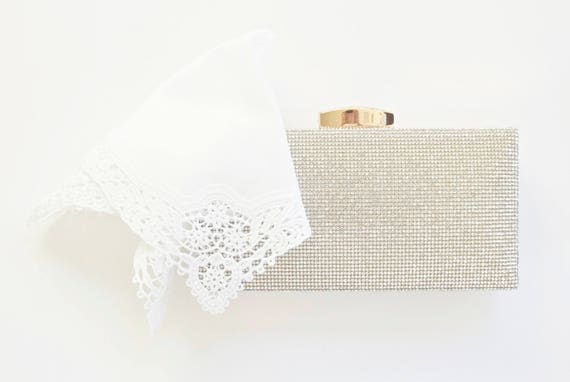 Vintage Wedding Lace Handkerchief