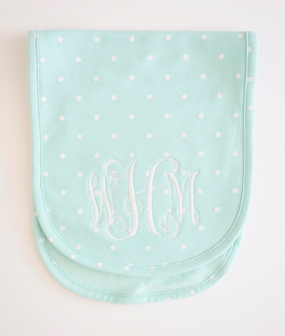 Child Monogrammed Embroidered Burp Cloth