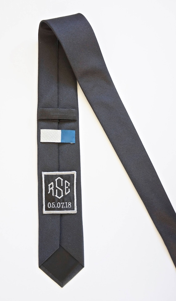 Custom Monogram Men's Skinny Tie Patch