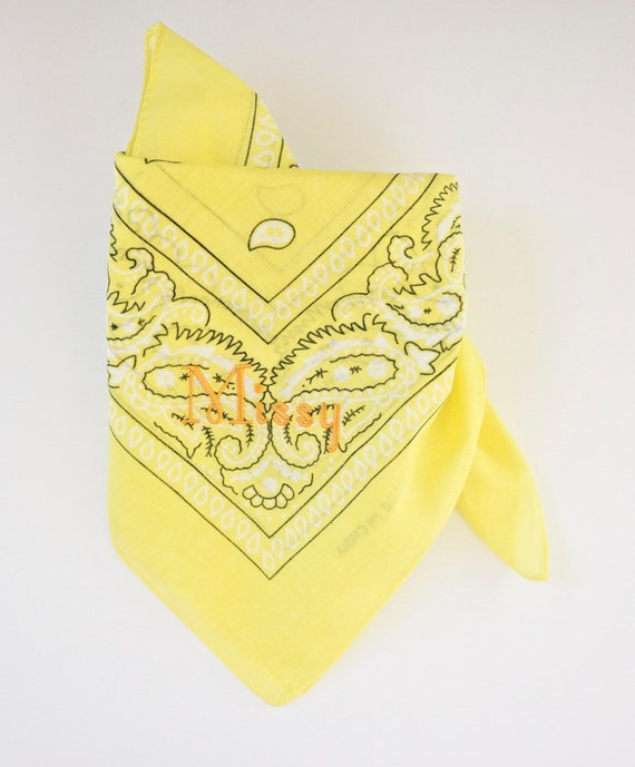 Personalized Monogrammed Large Dog Bandanas, Fall Colors Special price 11 dollars, Free Shipping, Yellow Color