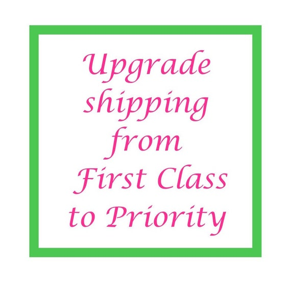 Upgrade Shipping from First Class to Priority Mail Add On