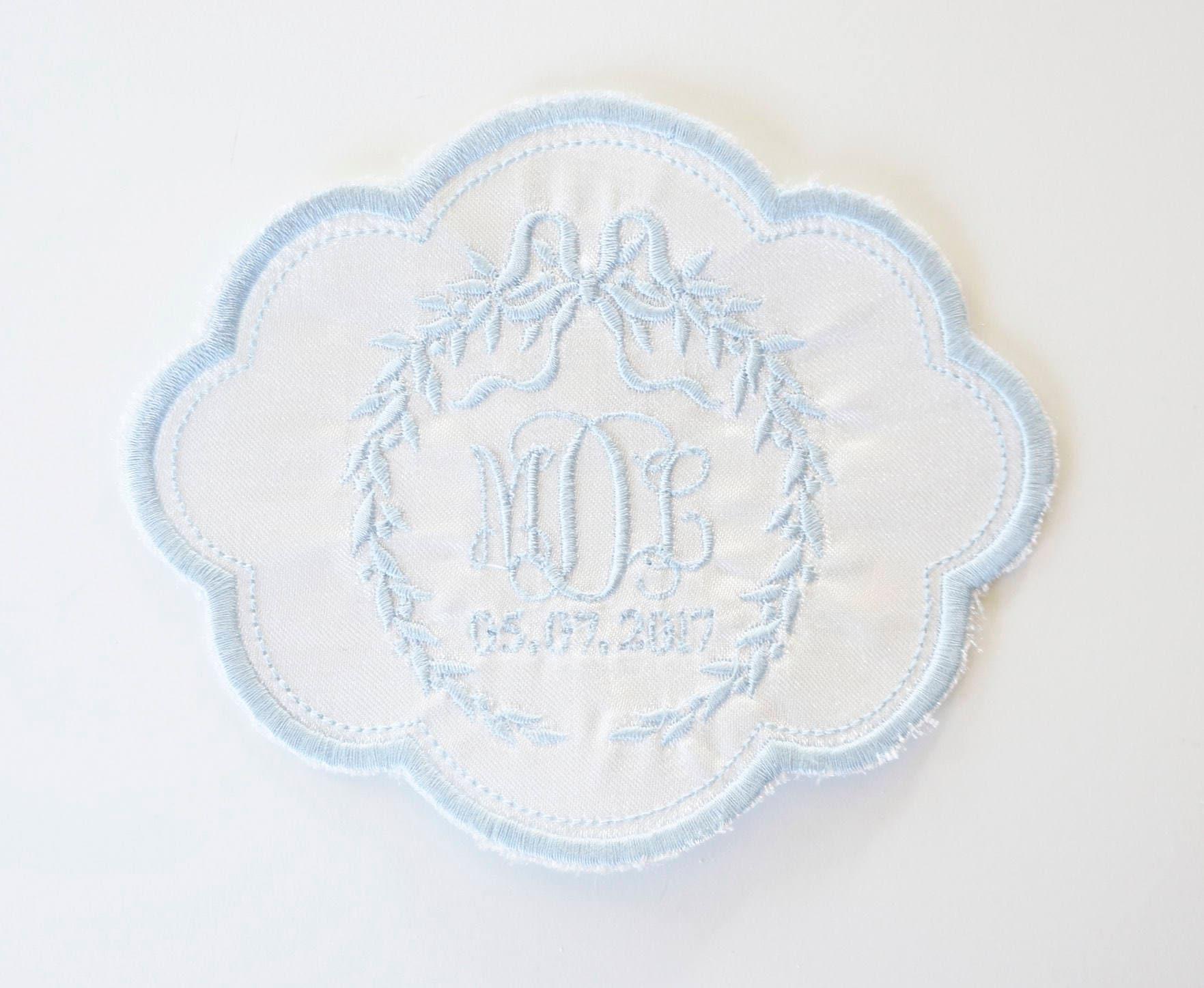 Custom monogram patch