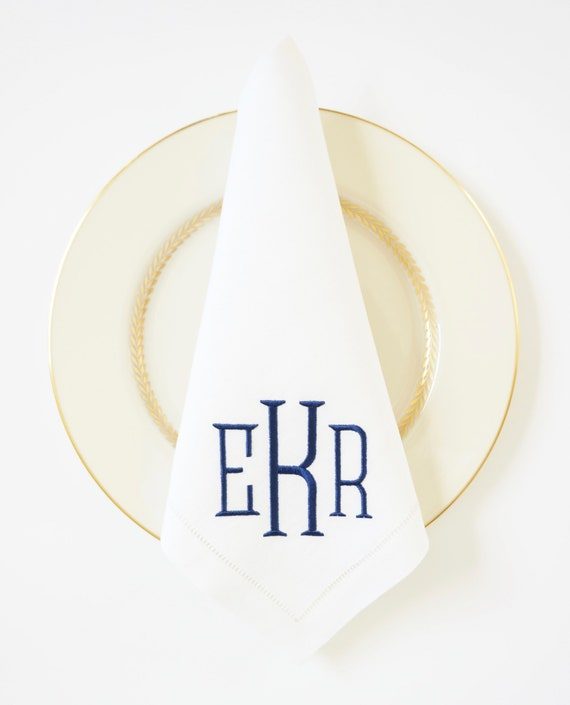 METRO Monogram Embroidered Napkins and Linens