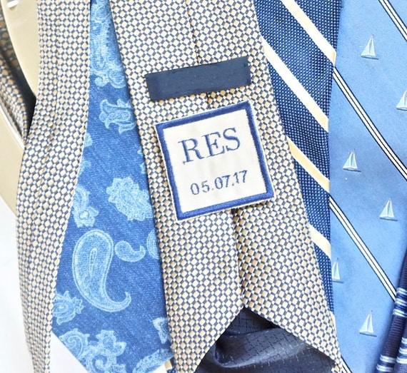 Custom Men's Monogrammed Tie Patch