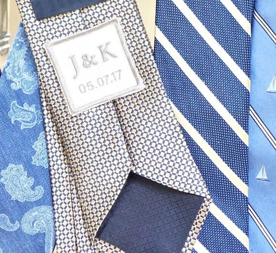 Custom Monogram Embroidered Men's Tie Patch