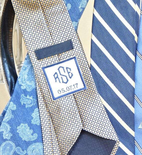 Custom Monogram Men's Embroidered Tie Patch