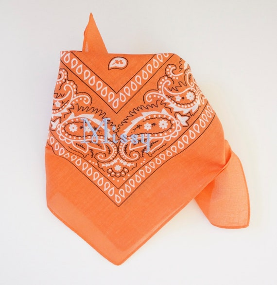 Personalized Monogrammed Large Dog Bandanas, Fall Colors Special price 11 dollars, Free Shipping, Orange Color