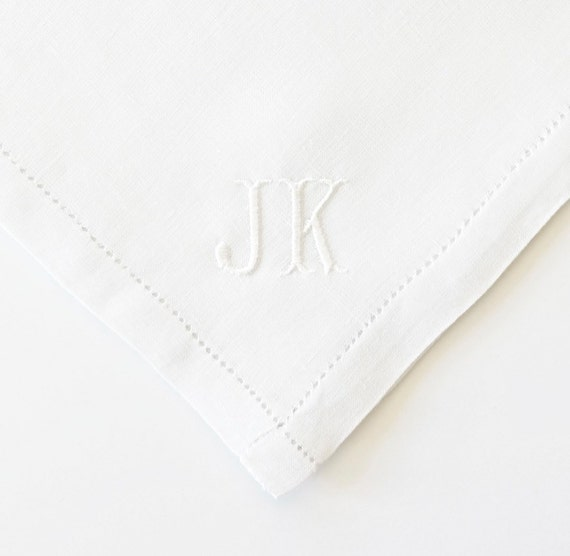Custom Men's Monogrammed Pocket Squares and Handkerchiefs