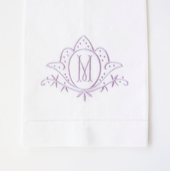 Blooming Tulip Embroidered Dinner Napkins and Guest Hand Towels - Wedding Keepsake for Special Occasions