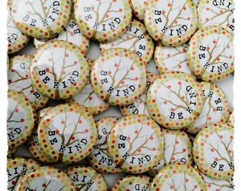 100 Be Kind 1-inch Pinback Buttons by Factory Kid Buttons