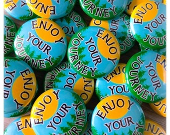 100 Enjoy Your Journey 1-inch Pinback Buttons by Factory Kid Buttons