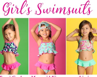 80eb29d4db1 Girls' Swimwear | Etsy