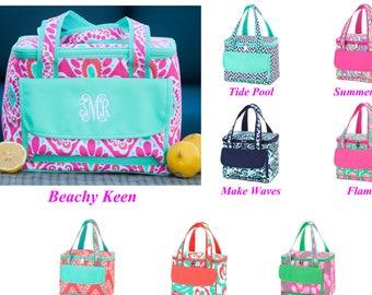 Personalized Cooler Bag, Monogram Cooler Bag, Personalized Insulated Bag, Beach Cooler, Cooler Tote, Insulated Lunch Bag, Picnic Cooler