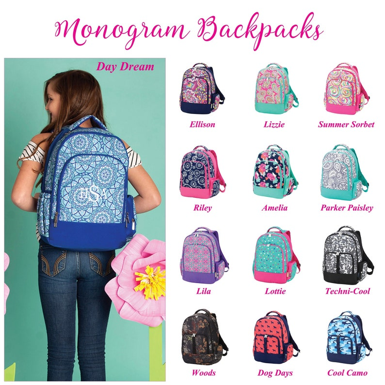 Personalised Kids Backpack Any Name Text Girls Boys Back To School Bag Rucksack