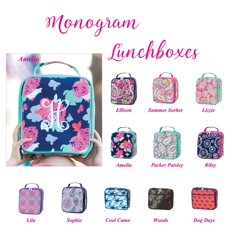 Personalized Lunch Box Personalized Lunch Bag Monogram Lunchbox Insulated Lunch Bag Lunch Box For Kids Lunchbox For Girls Lunch Sack