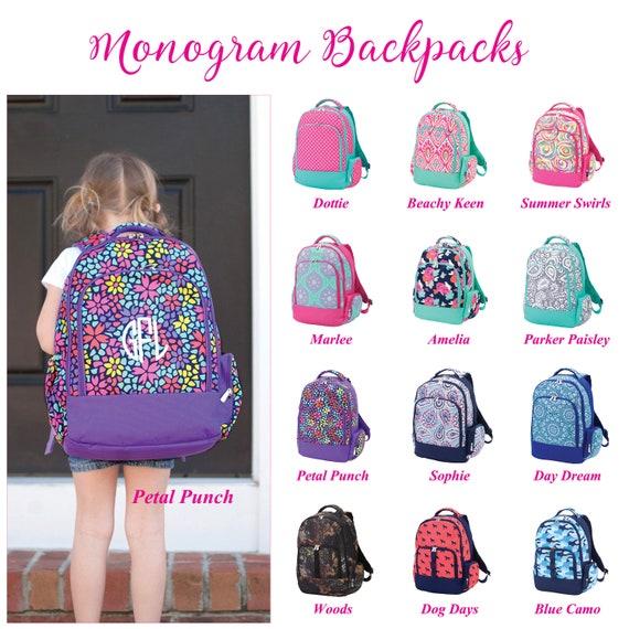 Kids Backpacks Backpack For Girls Monogrammed Backpack Girl Etsy