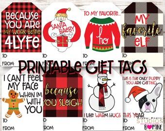 PRINTABLE GIFT TAGS, Christmas Tags, Holiday Tags, Christmas Gift Tag, Funny Christmas Tag, Work Bestie, Funny Christmas Gift, Holiday Gift