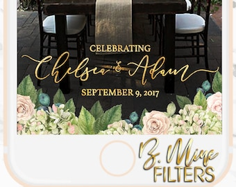 WEDDING SNAPCHAT GEOFILTER,Wedding Snapchat Filter,Floral Snapchat Filter,Custom Snapchat,Greenery Snapchat Filter,Blush and White Wedding