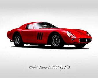 c6e41312c0a Classic Cars - 1964 Ferrari GTO 250 - Print