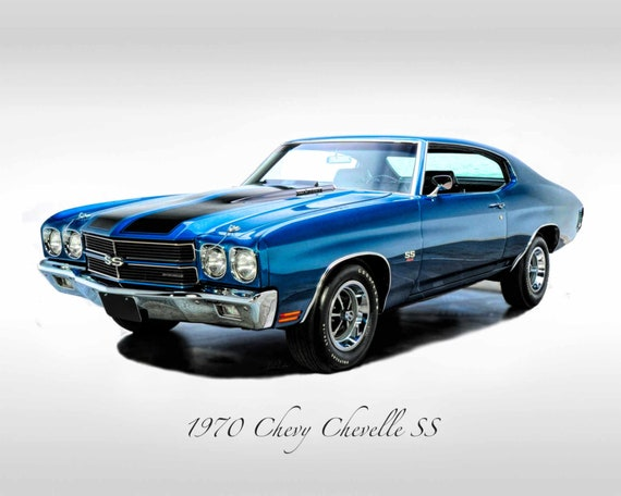 Oldtimer 1970 Chevy Chevelle Ss Muscle Car Druck Etsy