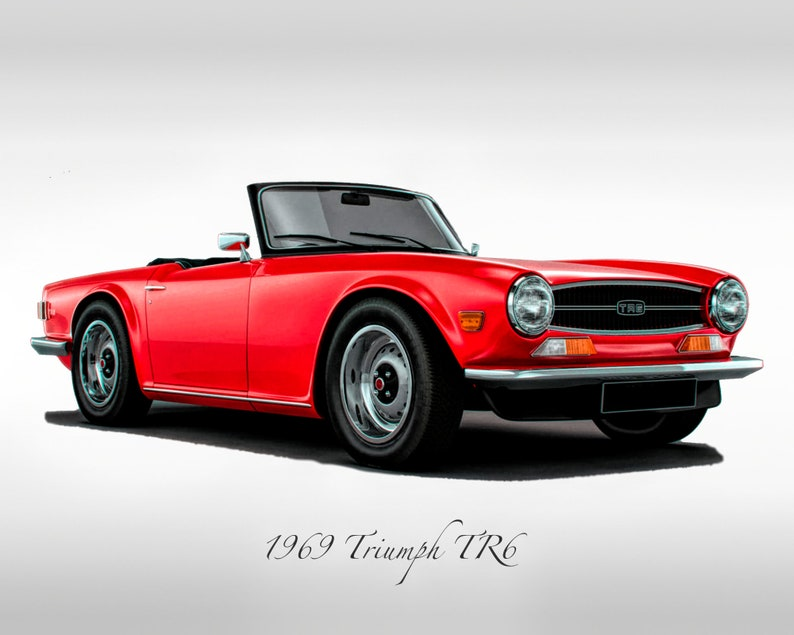 Classic Cars 1969 Triumph Tr6 Print