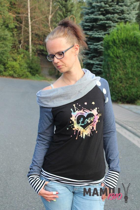 Raglan Kragen Shirt Alea Gr. 32 58