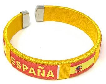 Spain Bangle / Bracelet / Spanish Flag / Travel / Soccer / Camino Wishes
