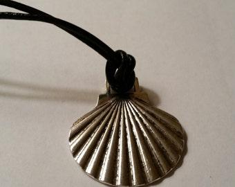Pilgrim's Identification Scallop Shell Necklace -- Camino de Santiago