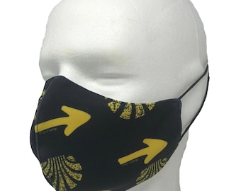 Mask with the Camino de Santiago logo. / Breathable / light yet double fabric / Pilgrim