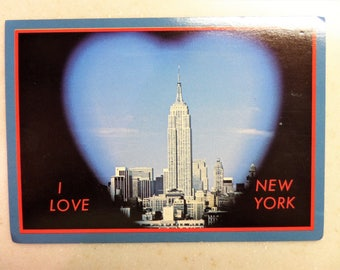 Vintage Post Card Empire State Building New York City Oversize