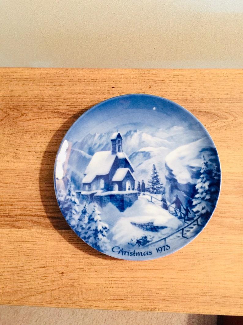 Vintage 1973 German Christmas Plate by Berlin Design