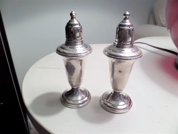 Vintage Sterling Silver Salt Pepper Shakers By Reed Barton Etsy