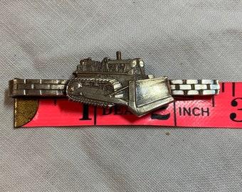 Bulldozer Tie Clip Construction Worker Tie Clasp Gift Idea NEW