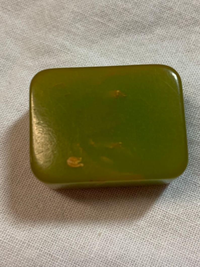 Vintage Green swirl Catalin Bakelite Pencil Sharpener